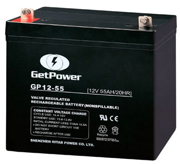 BATERIA GETPOWER VRLA 12V 55AH - GP12-55